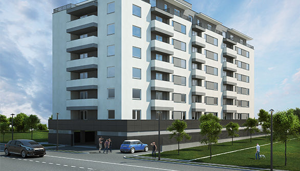 Repro Invest - Gala Water Residence - fotografie fațadă (1)